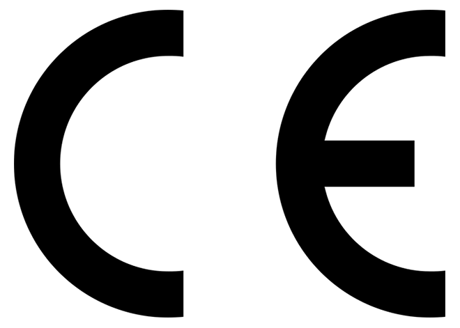 C E Logo -  certification mark that indicates conformity with health, safety, and environmental protection standards for products sold within the European Economic Area