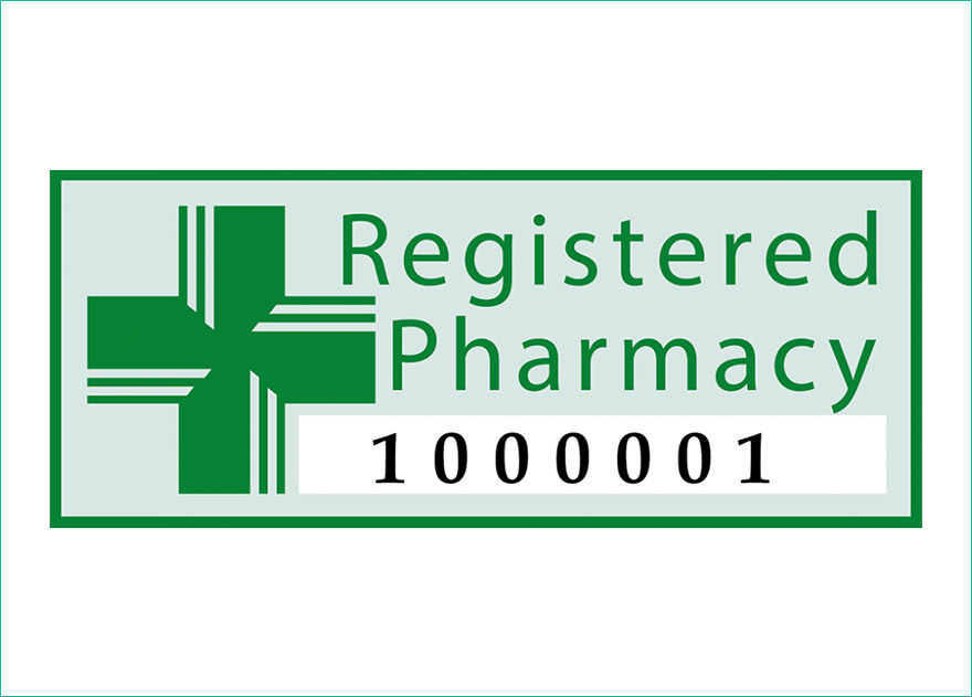 Registered Pharmacy logo and number
